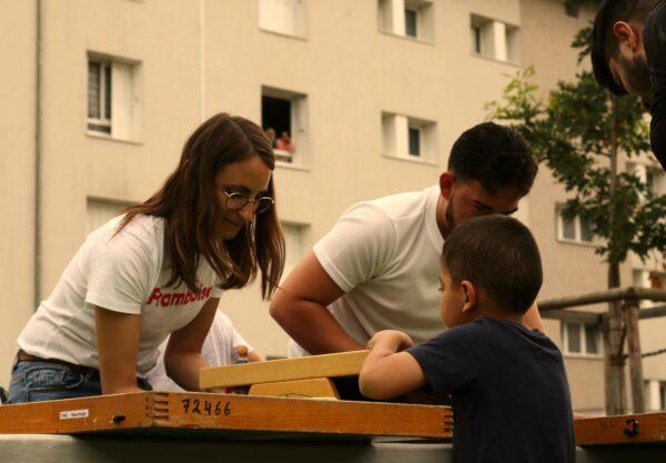 Les grands jeux en bois proposés par la Ludothèque