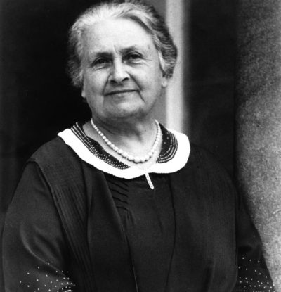Maria Montessori en 1936. ©Montessori Centenary